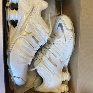 Nike Shox white with silver